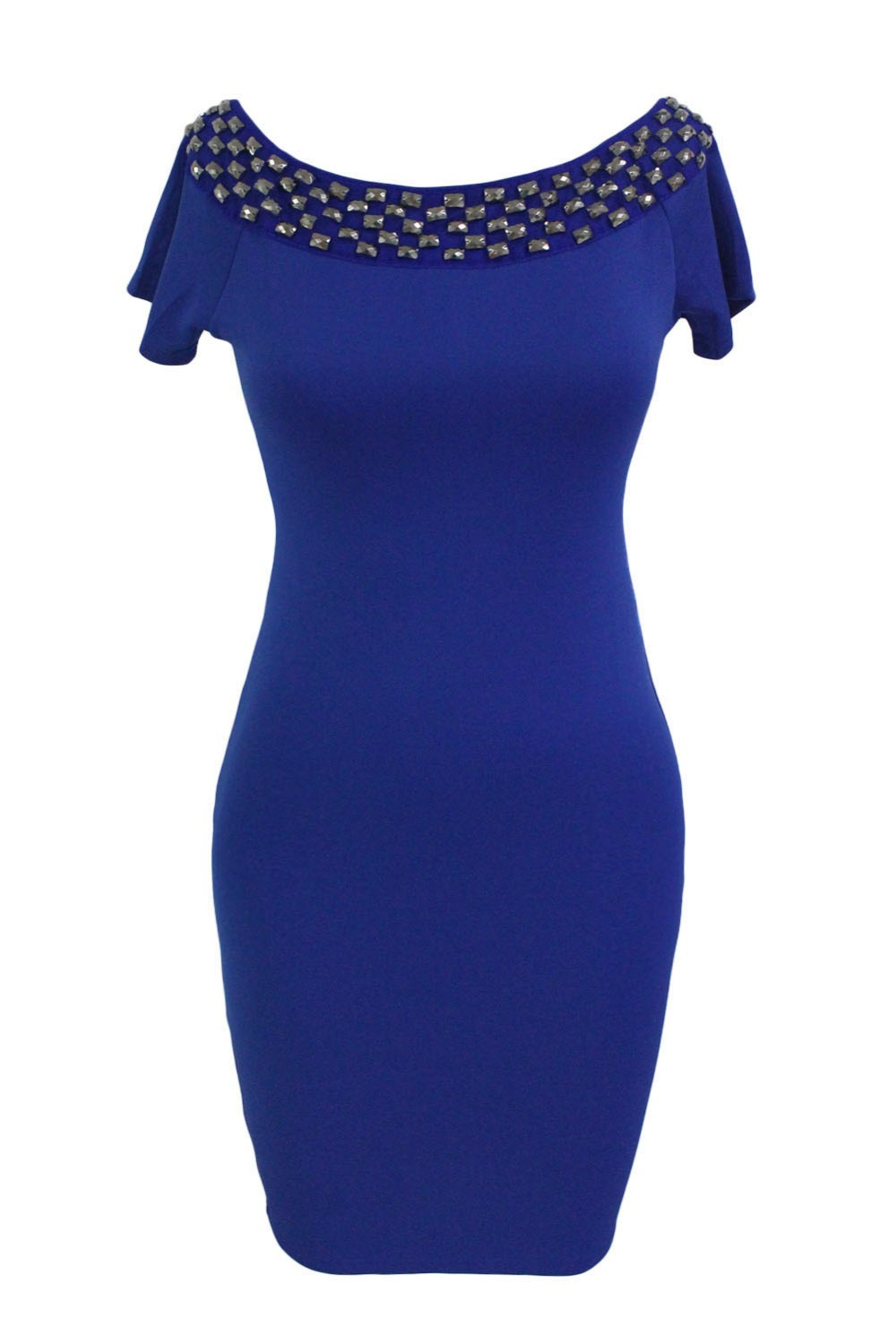 Studded-Off-Shoulder-Blue-Short-Sleeve-Bodycon-Dress-LC61188-5-2
