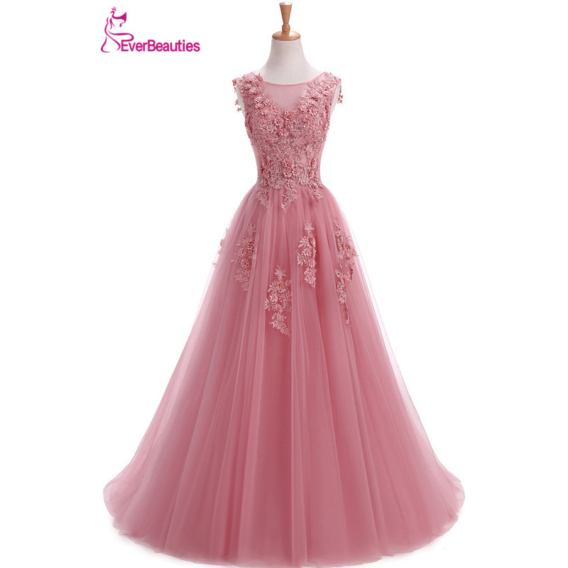 Robe De soirée robes De soirée longue grande taille Tulle bal à lacets Robe perlée robes De Festa Elie Saab Abendkleider 2019 Abiye