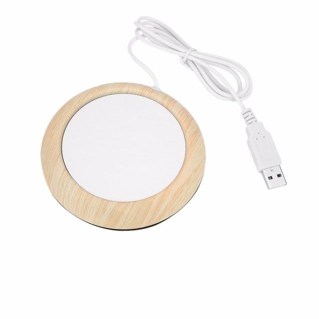 PREUP USB Cup Warmer Mug Warmer Coaster Home Office Table Mat Milk Tea Coffee Drink Placemat USB Powered Heater Pad