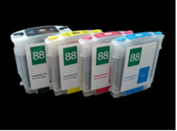 10sets /lot RIC Refillable Ink Cartridges For HP 88 With Auto Reset Chips Printer