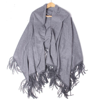 100 Cashmere Scarf Women Thicker Black Gray Cashmere Scarf Shawl Long Scarf High Quality 7 20Days