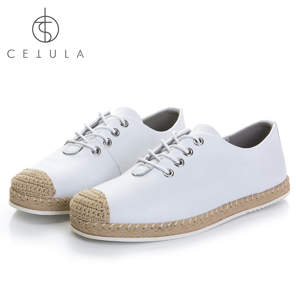 Cetula 2018 S / S Handgjorda Lace Up Women Smooth Calf Leather Linned - Damskor - Foto 1