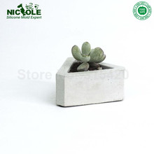 Triangular Shaped Concrete Cement Molds For Flower Post  Silicone Flower Pot Molds Geometric Flower Pots Molds3D Vase Mold