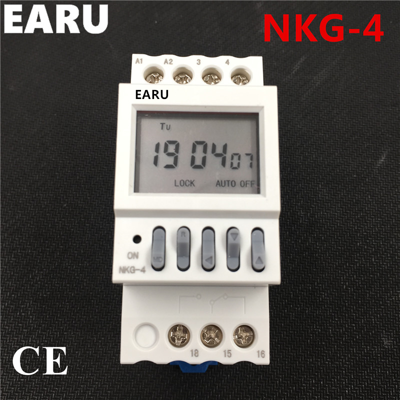 NKG4 NKG-4 Automatic Factory School Bell Controller Control Instrument 40 Groups Din Rail Microcomputer Timer Time Switch Relay hzdz microcomputer temperature control switch black 5v