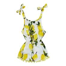 TELOTUNY 2018 kids dresses for girls Baby Girls Toddler Infant Lemon Tassel Print Princess Cute Dress Sundress M28(China)