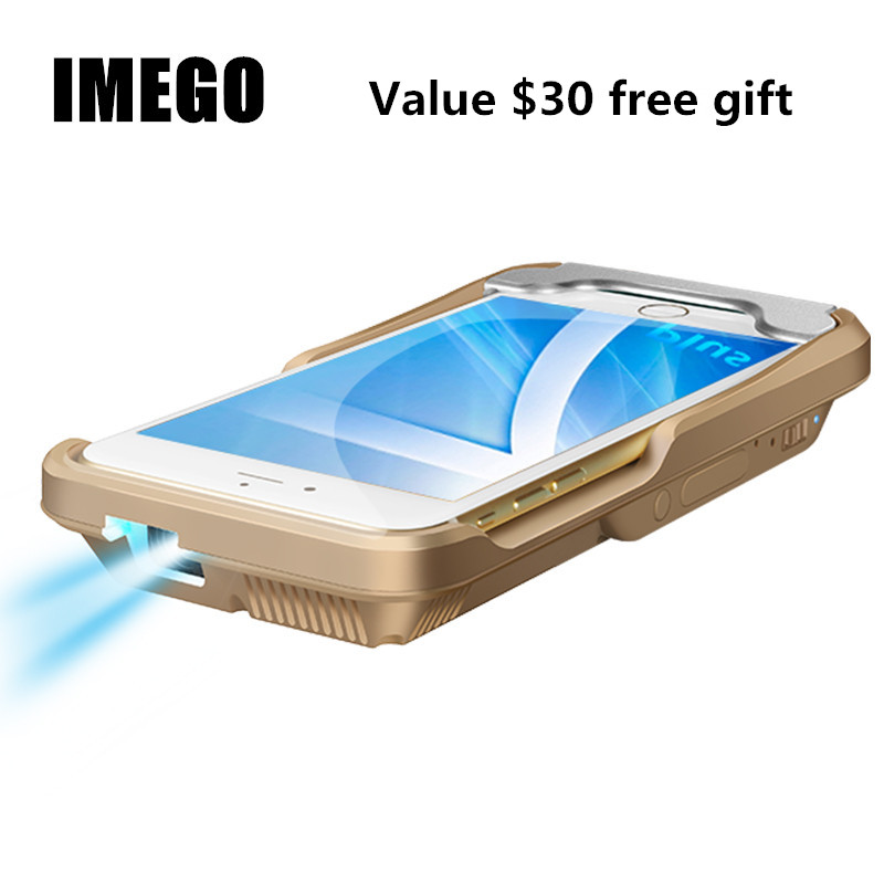Venda quente Projetor Com Cabo HDMI Airplay Vídeo Home Theater Projetores DLP Bateria Embutida 1400 China Fábrica Para o iphone 8