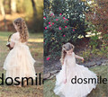 2016 Haute Couture Ball Gown Floor Length Multilayers Blush Tulle Gown Birthday Flower Girl Christmas Dress Handmade For Wedding