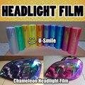 13 Rolls/Lot NEO Chameleon Headlight Film Tint NEO Chrome Taillight Vinyl Change Color