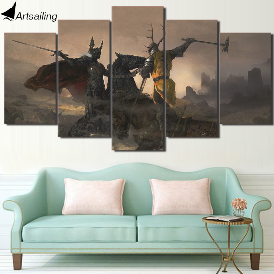HD print 5 piece canvas art Game of Thrones Painting home decor game canvas painting Free shipping/ja016
