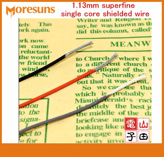 Free Ship 50M 1.13mm Superfine Single Core Shielded Wre Audio Video Signal Wire Thin Coaxial Cable Silver Plated RF1.13 Cable
