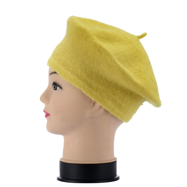 Wool Beret Hat French Beret...