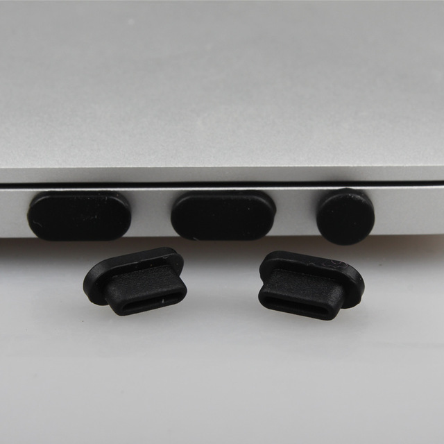 Silicone Anti-dust Plugs Protection Set For MacBook Pro 13 15 Touch bar A1706 A1707 A1708 A1989 A1990 Laptop Dust Plug Ports