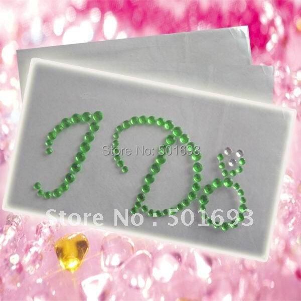 Freeshipping !  decorative gemstone rhinestone wedding stickers I DO for shoes !