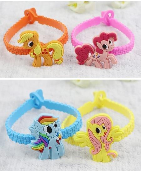 Cartoon Unicorn Pony Silicone Rubber Wristband Bracelet For Kids//Girls Gift