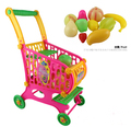 Children Shopping Cart Play Toys Simulation Supermarket Shopping Carts Toy Kids Vegetable Fruit Set in the Kitchen Birthday Gift