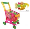 Niños cesta de la compra juego juguetes simulación supermercado juguete carros Vegetable Fruit Set in la cocina regalo de cumpleaños