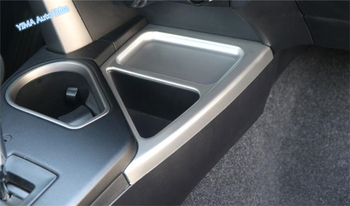 Lapetus For TOYOTA RAV4 RAV 4 2016 2017 2018 ABS Auto Styling Central Control Storage Box Cup Panel Cover Trim 1 Piece image