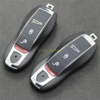 PINECONE for PORSCHE MACAN 911 BOXSTER CAYMAN CAYNNE PANAMERA Remote Key 3 Buttons Remote Blank Key Shell 1 PC With Uncut Blade