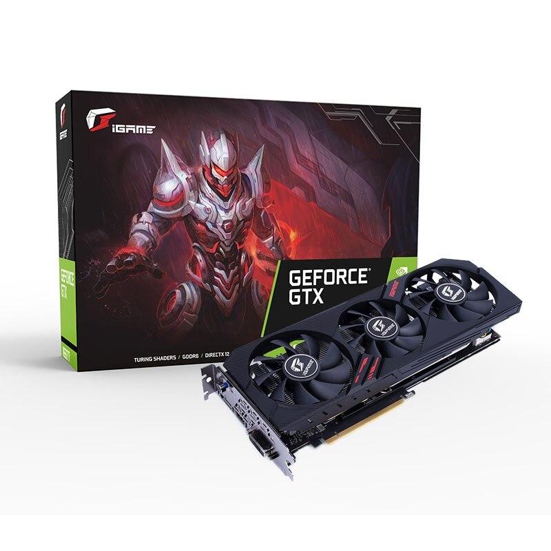 Красочные iGame GeForce GTX 1660 Ti ультра 6G игровой видеокарты 6 ГБ 192bit GDDR6 1845 МГц PCI EX16 30 HDMI графическая карта для ПК купить на AliExpress