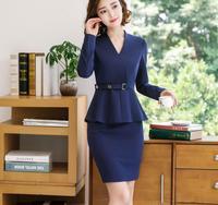Brand Two Piece Set Pink Office Uniform Designs Women Elegant Fashion Skirt Formal Suits Ladies Business Outfits Suit