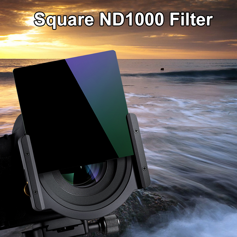 K F Concept 100x100mm ND1000 20 Layer Square Lens Filter 10 Stop Optical Glass ND Filter