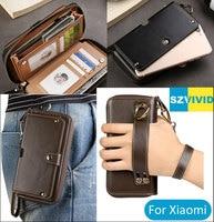Purse Handbag Wallet Leather Bag For Xiaomi Mi6 Mi5s Redmi Note 5 5A Prime 4 4x Plus Clutch Wristlet Waist Phone Bags Pouch Case