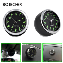 Luminous Car Clock Mechanics Quartz Clock Mini Noctilucent Watch Clock for car-styling kit