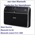 mini car-styling Bluetooth MP3 Player sun visor fine clip hands-free intercom system with Bluetooth V4.0+EDR Music Receiver