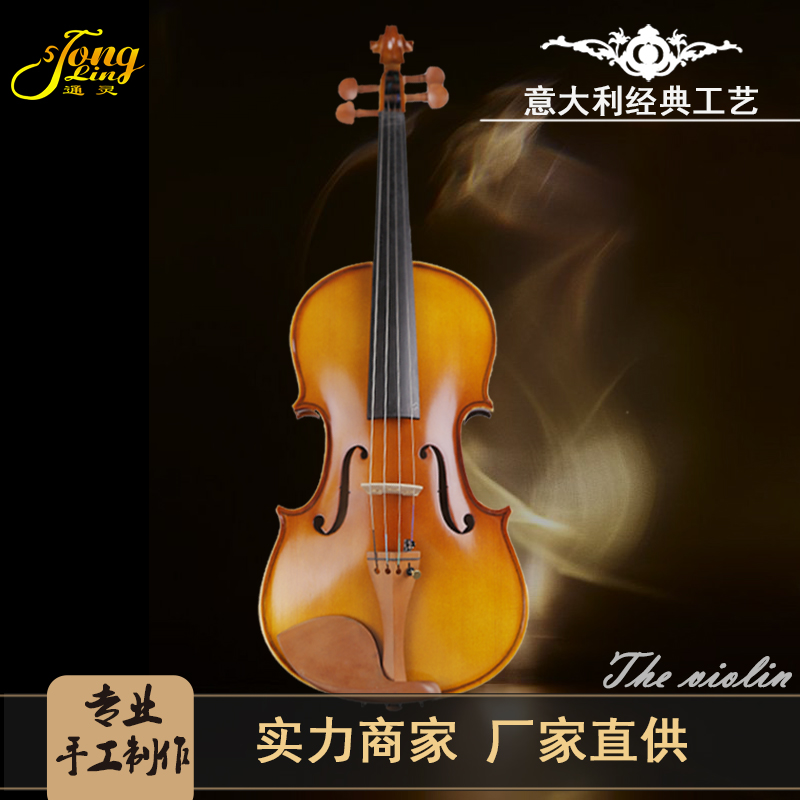 TONGLING Brand Students Maple Violin Stringed Musical Instrument with Case Bow Strings Full Set Jujube Wood Accessories image