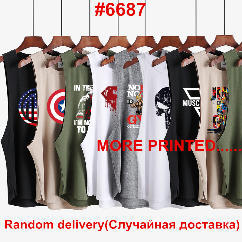 3Pcs/Lot 2019 Clothes Brand Gyms Singlet Canotte Bodybuilding Stringer   Tank     Top   Men Fitness Shirt Muscle Sleeveless Vest