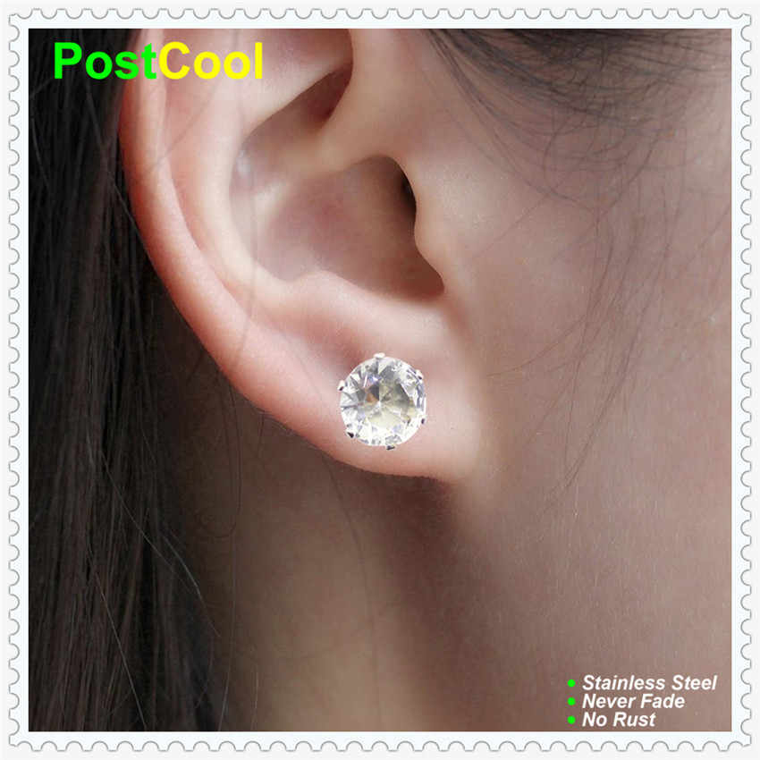 Fashion Jewelry finding colorless Imitated diamonds Rhinestone crystal Cubic Zirconia stud earrings little gift big friendship