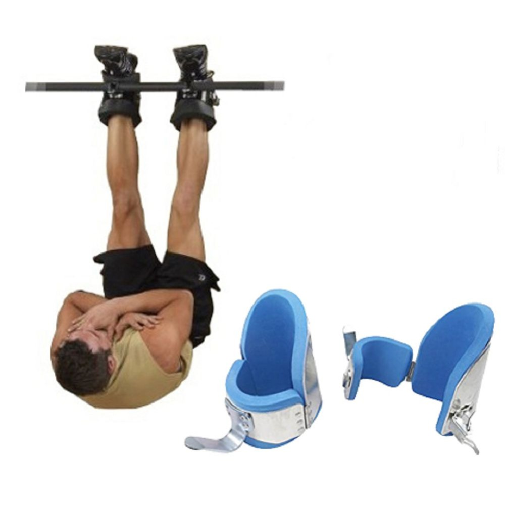 New Fitness Inversion Gravity Boots Bodybuilding Crossfit Safety Locking Mechanism Therapy Ankle Boots Gym Hang Up Hooks
