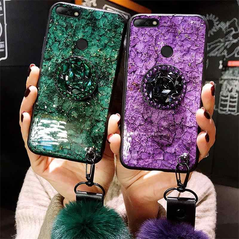 Fashion Marble Glitter Silicone Case For Huawei Honor 7C 7A Pro 8 9 Lite 9X Cover On Honor 20 Pro View 10 View20 Accessory Funda