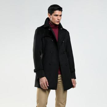 Casual woolen coat men trench coats long sleeves overcoat mens cashmere coat casaco masculino england spring autumn korean