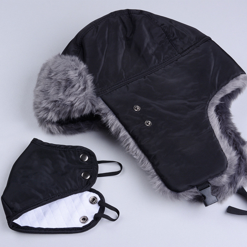 fc5060cea Winter Hat Bomber Hats For Men Women Thicken Balaclava Cotton Fur ...