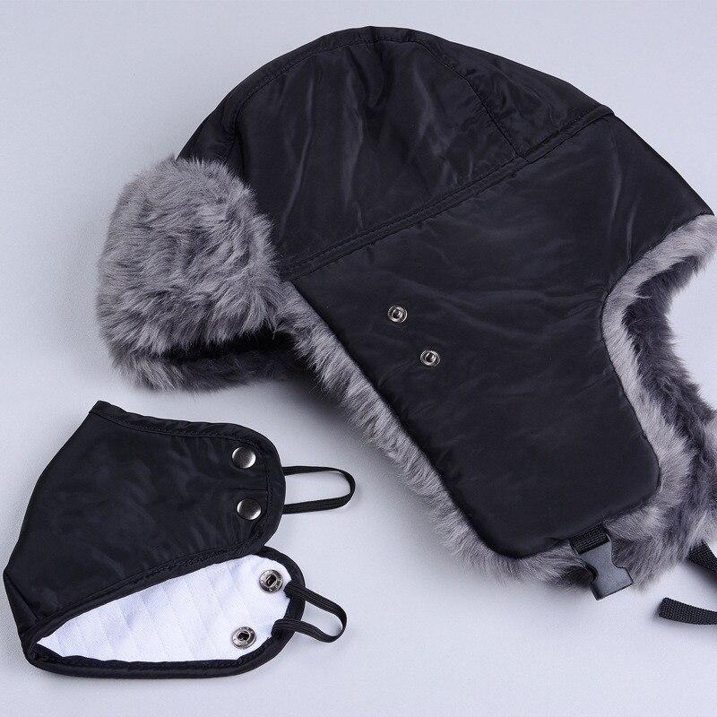 Winter Hat Bomber Hats For Men Women Thicken Balaclava Cotton Fur Winter Earflap Keep Warm Caps Russian Skull Mask Bomber Hats