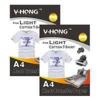 """Inyección de tinta de hierro en blanco y color claro camiseta transferencia de calor de papel 8,27 """"x 11,7"""" Paquete de 20 hojas"""
