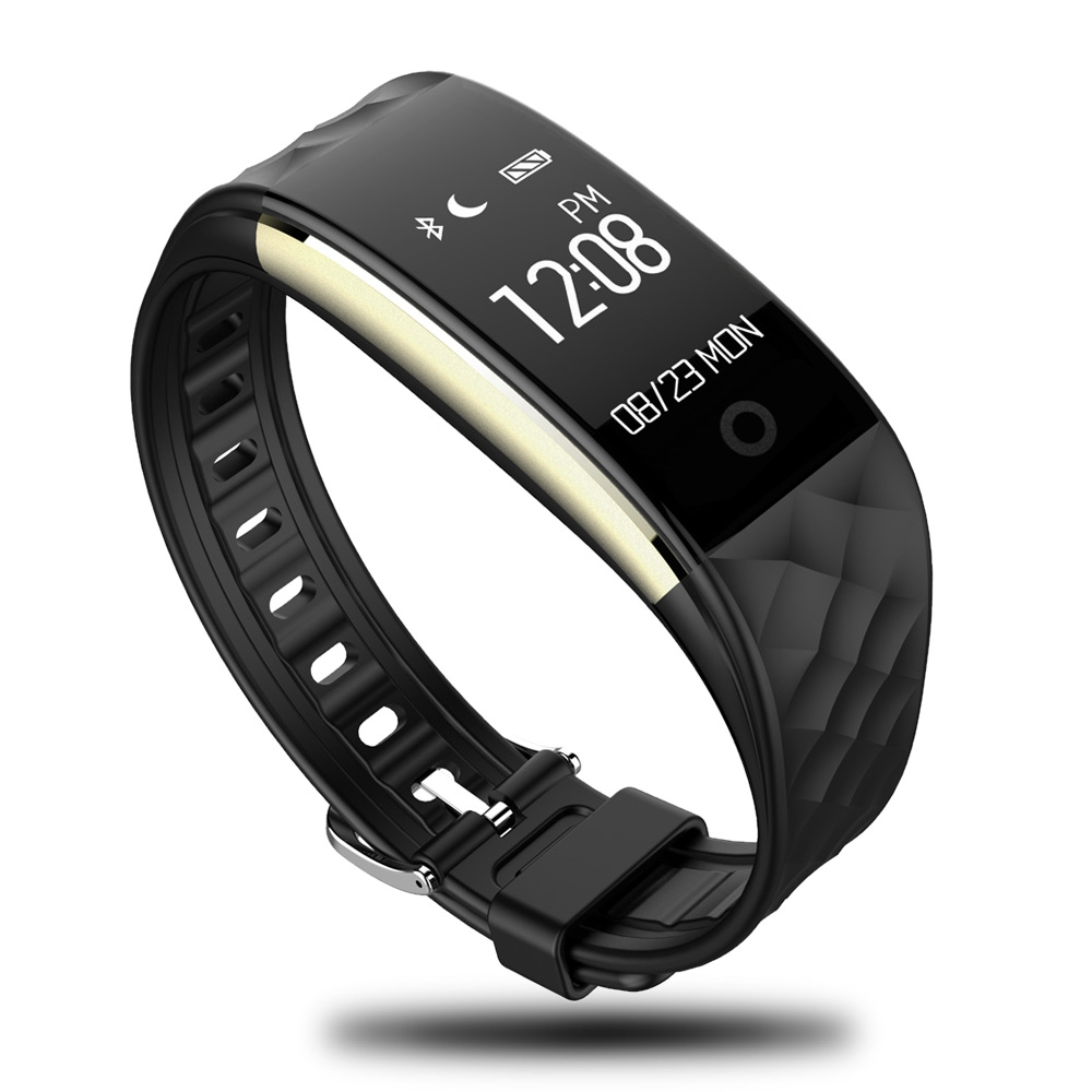 696 S2 Bluetooth Smart Band Waterproof Touch Screen Wristband Heart Rate Monitor