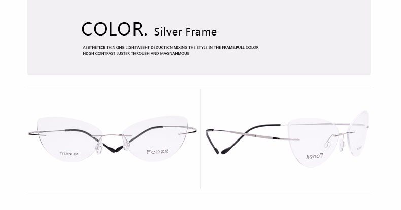 rimless women cat eye glasses silhouette fashion eyewear eyeglasses (16)