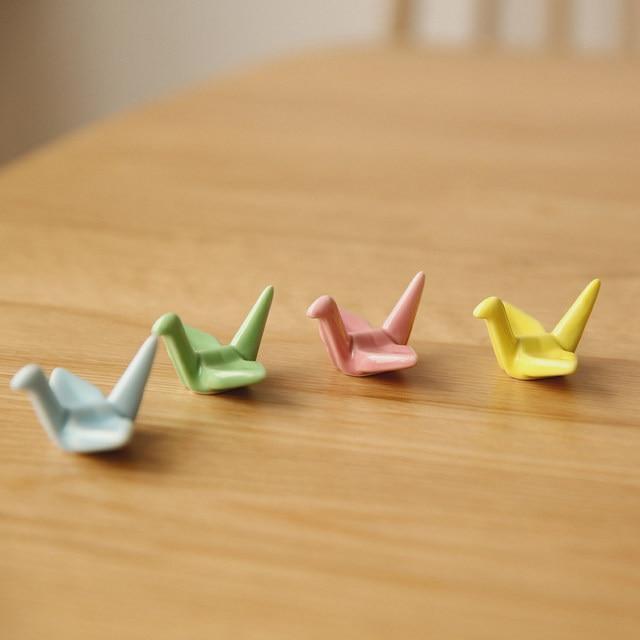 Online Shop Visual Touch 4pcspack Cute Origami Ceramic Decorative