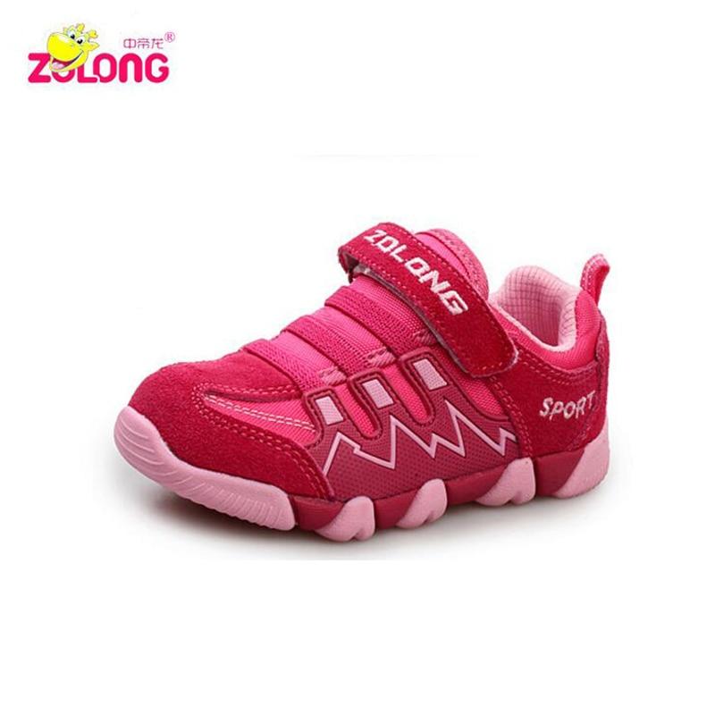 ZDL barn varumärke sportskor pojkar och flickor sneaker äkta läder kvalitet barnskor mode barn sneakers