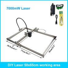 7000mW DIY Metal laser engraving machine 10W CNC laser work area 50 65cm laser engraver metal