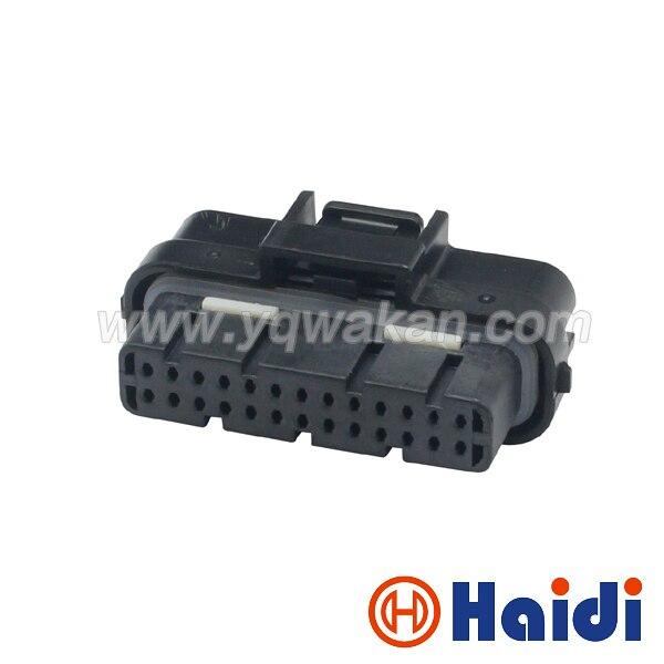 Livraison gratuite 1 set broches auto ordinateur connecteur 1473712-1/1473712-2 26 voies 2 rangée Superseal 1.0 26 p modifié connecteur ÉCU