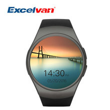 2016 Nuevo Producto KW18 Reloj Inteligente Android/IOS Digital-reloj Bluetooth Reloj Inteligente SIM Ronda Monitor de Ritmo Cardíaco reloj Reloj
