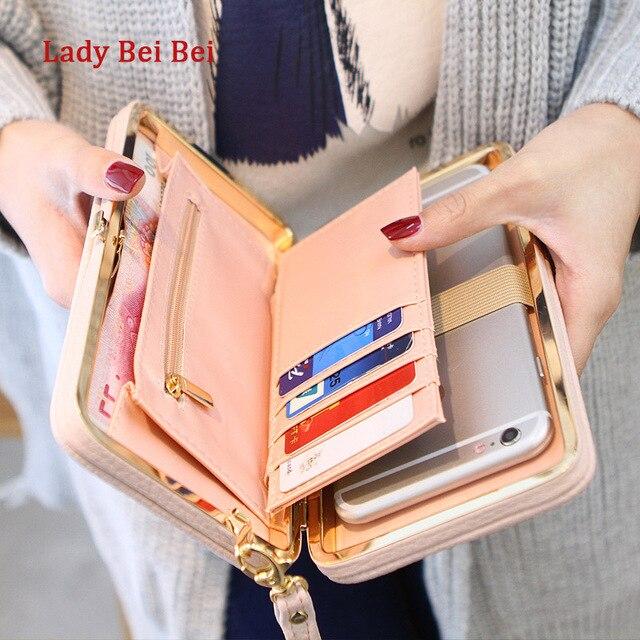 Кошелек женский известного бренда карты держатели мобильного телефона карманные подарки для женщин мешок денег сцепления