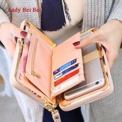 Geldbörse brieftasche weibliche berühmte marke kartenhalter handytasche geschenke für frauen geld tasche kupplung