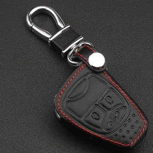 Image 2 - jingyuqin Remote 3 Buttons Car key Leather Case Fob Cover For Chrysler Jeep Dodge Ram Caliber Nitro Patriot Pacifica Liberty