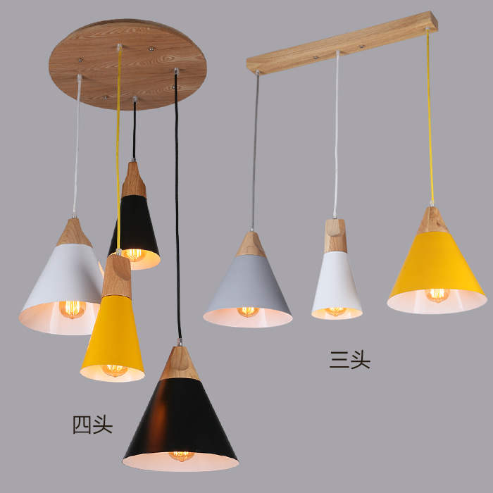 Nordic Pendant Lights Wood Aluminum Lampshade Industrial Lighting Loft Lamparas Colorful Pendant Lamp E27 Base Light Fixtures novelty gourd shape handcrafted pendant lights natural wood nordic country brief wire hanging drop lamp loft lighting art decor