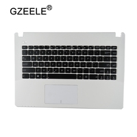 GZEELE New US Keyboard for Asus X450 X450C X450CA X450CC X450CP X450L X450LA upper C Case English Laptop palmrest top case frame