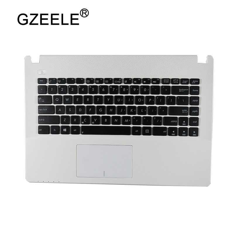 Gzeele Новая Клавиатура США для Asus X450 X450C X450CA X450CC X450CP X450L X450LA верх C чехол английский Ноутбук Упор для рук Топ чехол